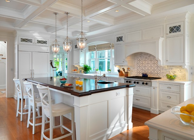 Bell jar pendant houzz inspiration for a timeless kitchen remodel in boston with a farmhouse sink aloadofball Choice Image