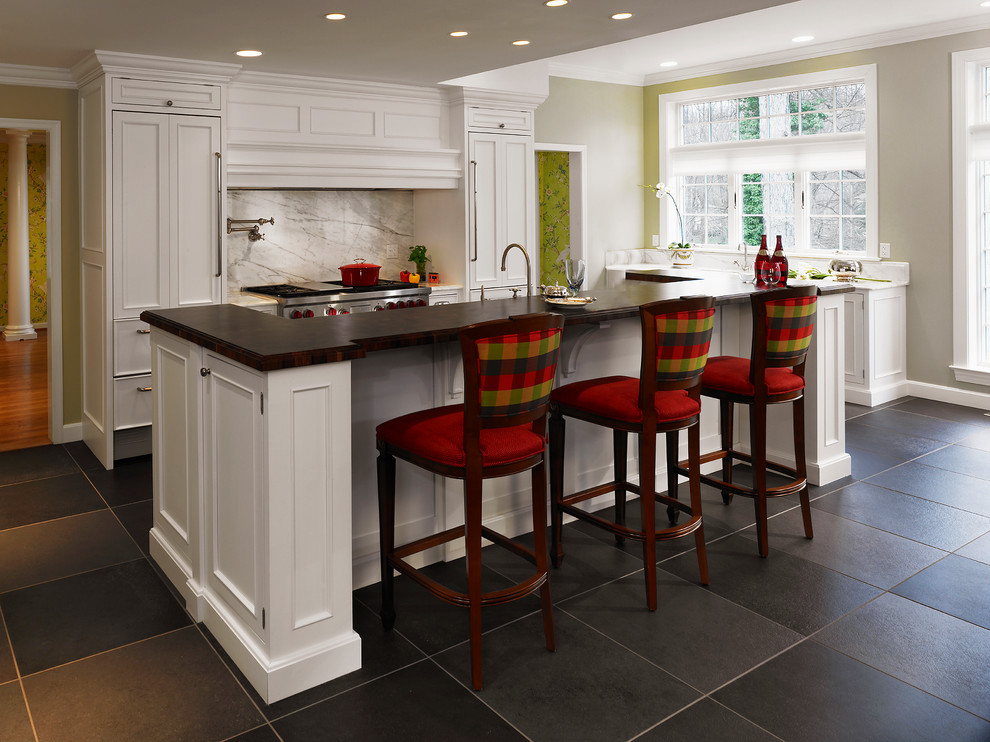 Inspiration for a timeless kitchen remodel in San Francisco with paneled appliances