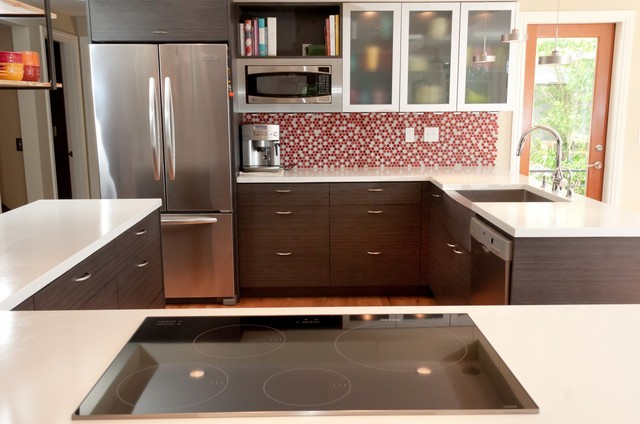 Kitchens contemporary kitchen seattle by sawhorse for Modern kitchen cabinets seattle
