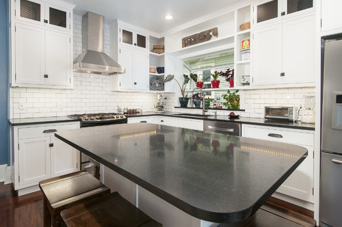 Absolute Black Granite Kitchen : Absolute black granite countertops white cabinets