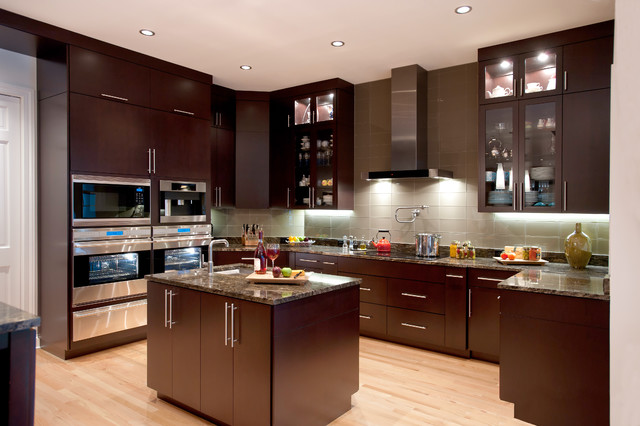 Kitchens modern kitchen tampa by veranda homes for Modern kitchen images