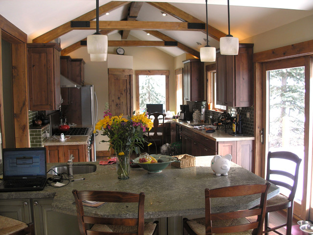 Kitchens With Faux Wood Beams Rustic Kitchen New