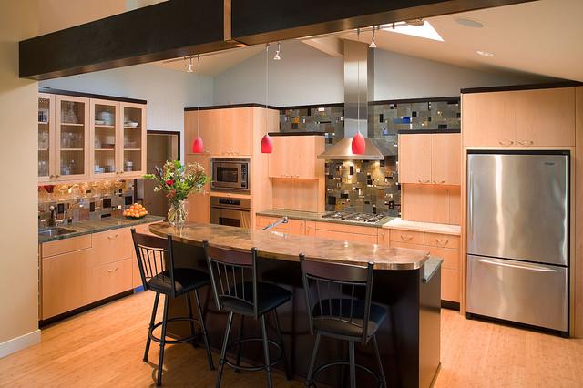 Klimpt Inspired kitchen - Contemporary - Kitchen - Portland - by ...