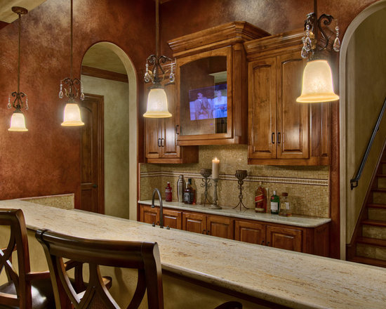 Reddish brown leather couch home design ideas pictures - Rustic kitchen paint colors ...