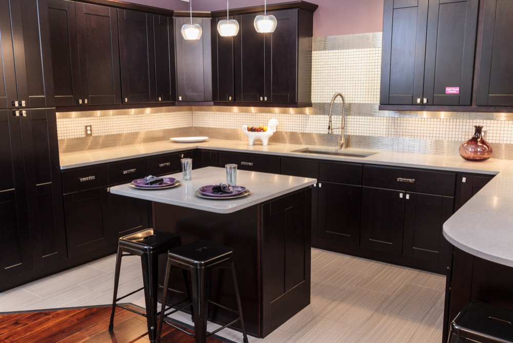 Espresso Kitchen Cabinets Houzz