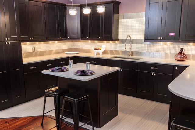 Knob Hill Espresso Shaker Kitchen Cabinets Contemporary