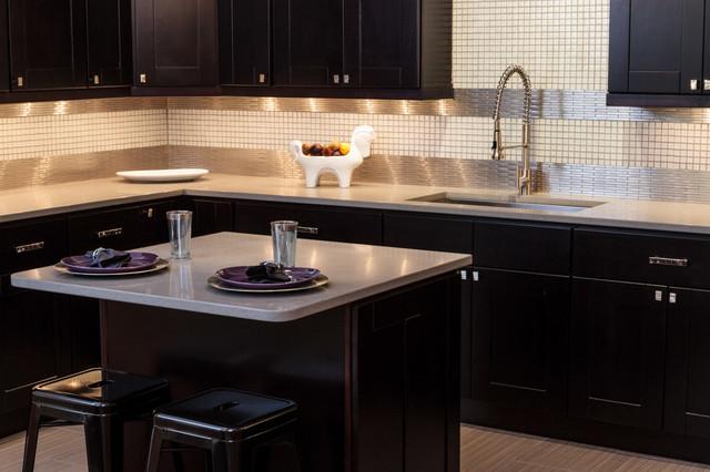 Knob Hill Espresso Shaker Kitchen Cabinets - Contemporary - Kitchen - baltimore - by Cabinets To Go