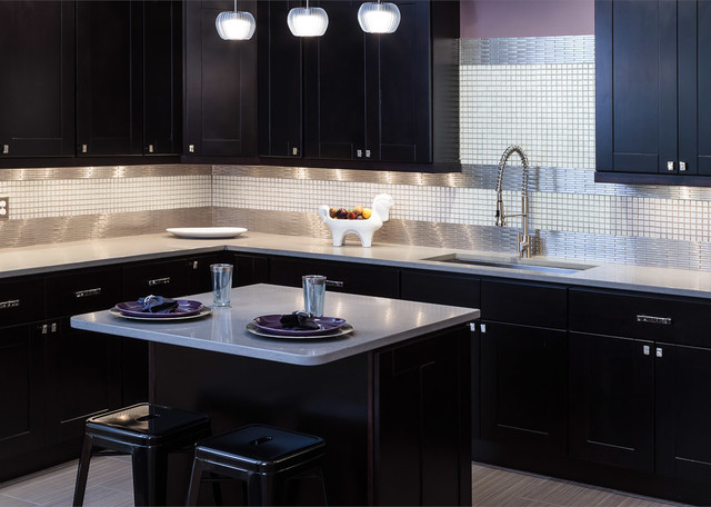 Knob Hill Espresso Shaker Kitchen Cabinets - Contemporary - Kitchen - Baltimore - by Cabinets To Go