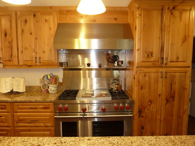 Knotty alder cabinets eclectic kitchen other metro for Alder kitchen cabinets pictures