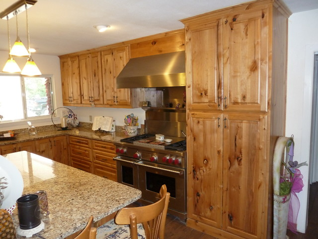 Knotty Alder Cabinets - Eclectic - Kitchen - other metro - by Lone ...