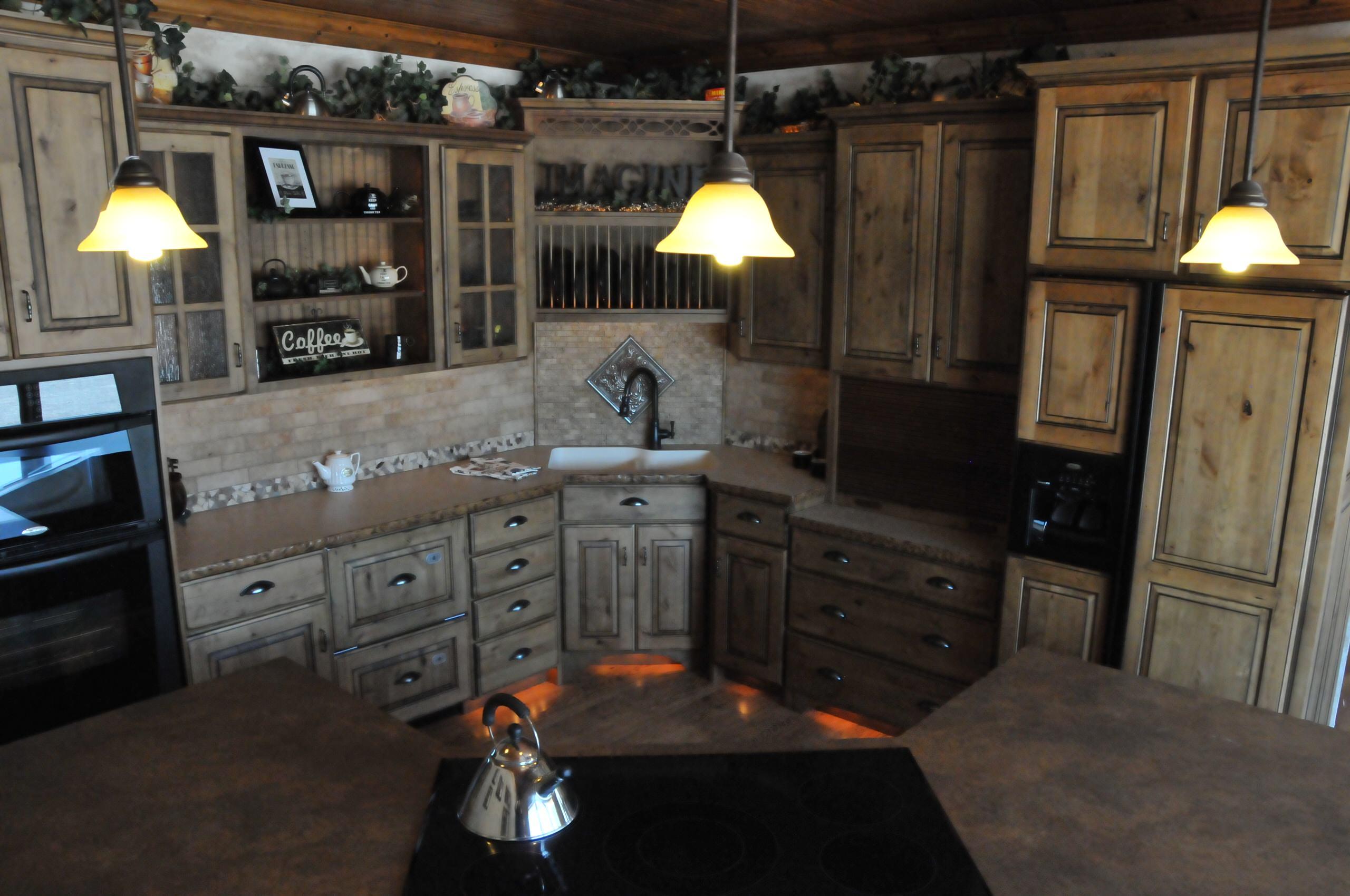 Knotty Alder Country Kitchen