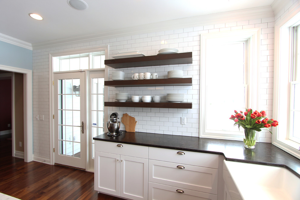 knotty alder floating shelves with full wall of subway tile behind denise quade design img aae1308f097e4597 9 1536 1 a66ab48