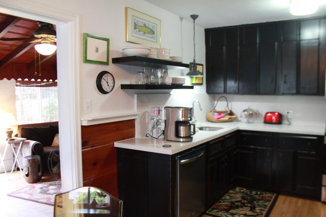Knotty Pine Kitchen Remodel - Eclectic - Kitchen - miami