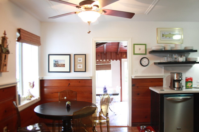 Knotty Pine Kitchen Remodel eclectic-kitchen