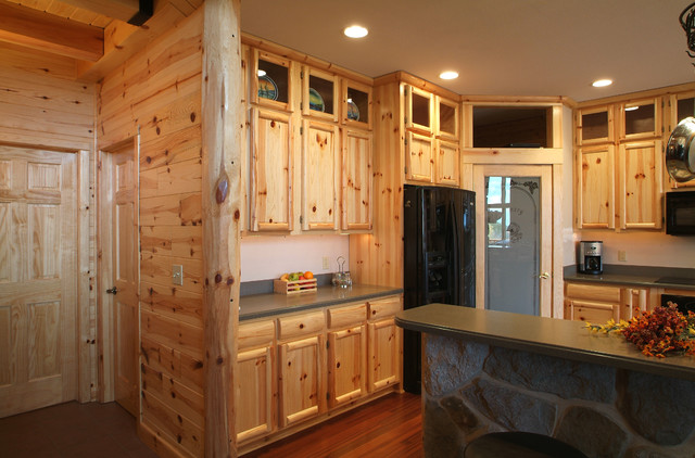 Knotty pine kitchen - Rustic - Kitchen - other metro - by ...