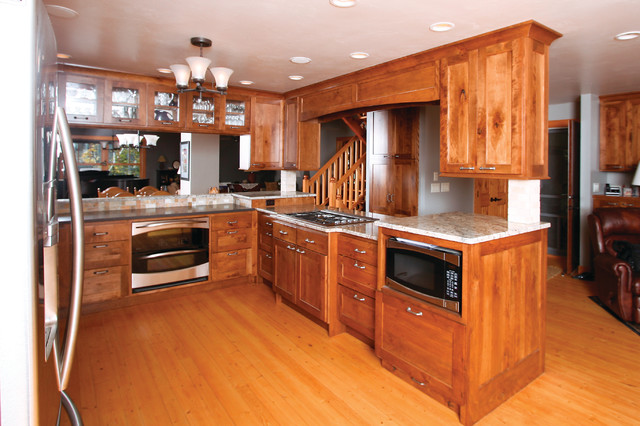 Knotty Red Birch - Traditional - Kitchen - other metro ...