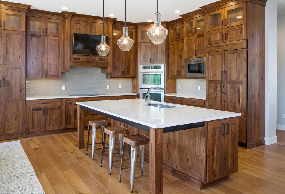 Knotty Walnut Kitchen Traditional Kitchen Other By Rimrock Cabinet Co Houzz