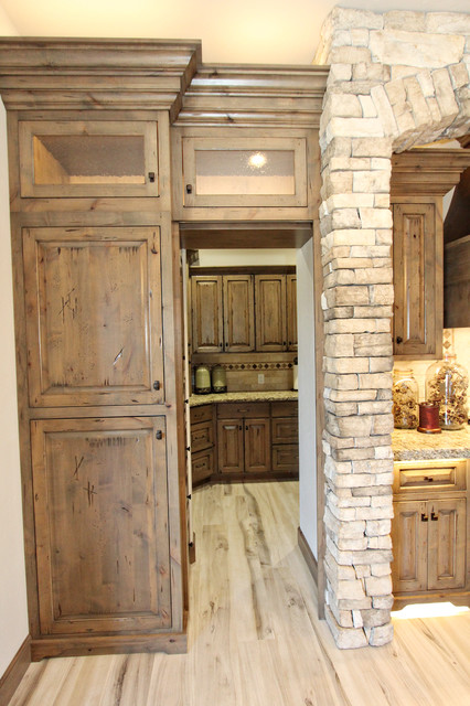 knoty alder kitchen with accent island kimberly idaho rustic kitchen other by premier woodworking houzz