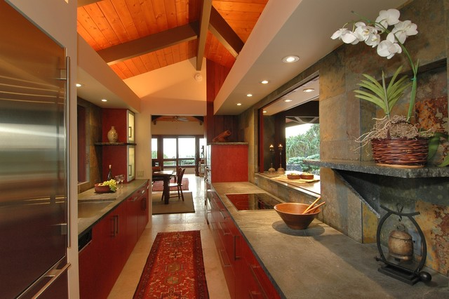 Kona Hillside tropical-kitchen