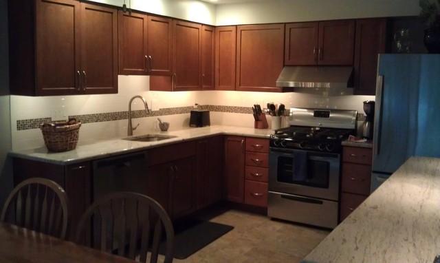 Kraftmaid Alexis Maple-Cinnamon-Delran, NJ - Eclectic - Kitchen ...