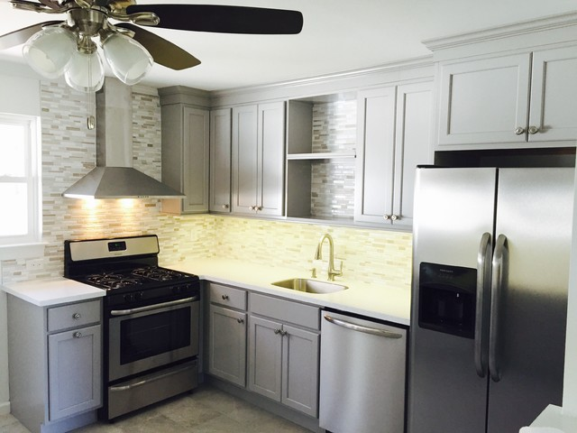 Kraftmaid Cabinetry In Pebble Gray