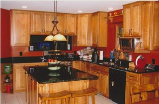 Kraftmaid Cabinetry Montclair Arch Cherry Honey Spice