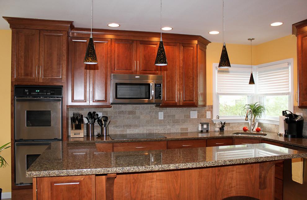 Kraftmaid cabinets-Northfield Cherry-Sunset - Eclectic ...