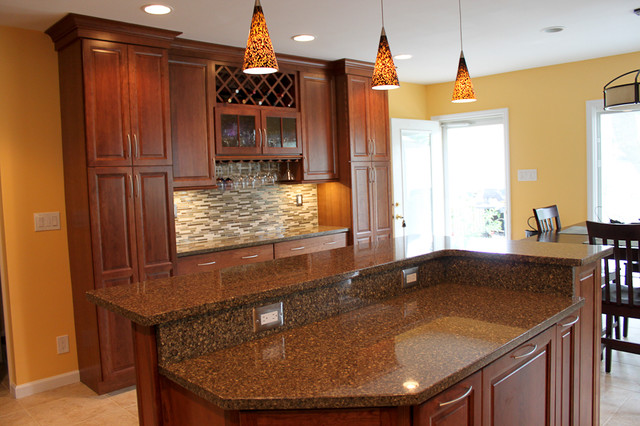 Kraftmaid Cabinets Northfield Cherry Sunset   Eclectic ...