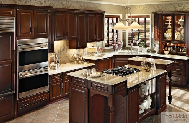 Kraftmaid Cherry Cabinetry In Burnished Cabernet Traditional