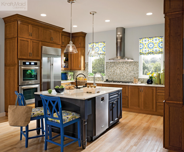 Kraftmaid Cherry Cabinetry In Golden Lager Traditional