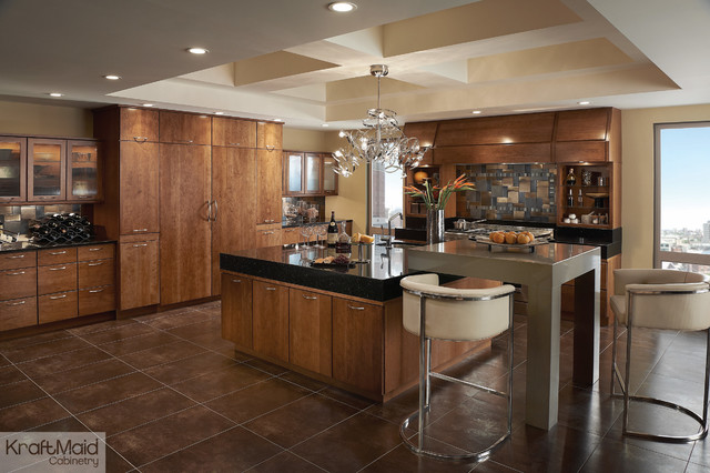 KraftMaid: Cherry Cabinetry in Sunset - Contemporary - Kitchen - by ...