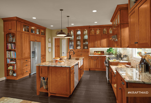 Kraftmaid Cherry Kitchen Cabinets In