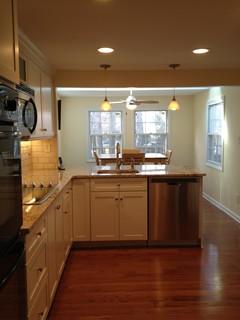 Kraftmaid-Deveron-Dove White w/Sensa Caroline Summer Granite - Traditional - Kitchen ...