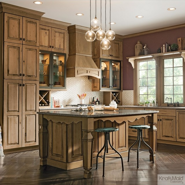 Kitchen Maid Cabinet: KraftMaid: Distressed Husk Kitchen