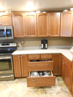 Kraftmaid Gentry Maple Chestnut - Kitchen - other metro - by Jenna Cook @ Lowes