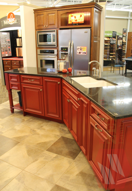 Kraftmaid island at zeeland lumber supply traditional for Kitchen cabinets zeeland mi