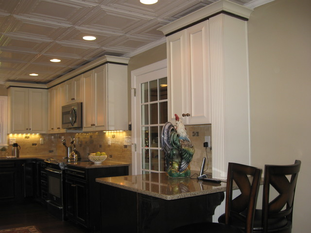 Kraftmaid Kendall Peppercorn and Canvas traditional-kitchen