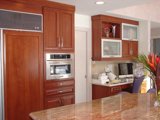 Kraftmaid kendrick cherry cinnamon for Cinnamon cherry kitchen cabinets