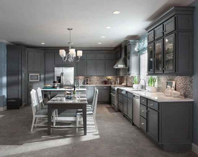 KraftMaid Kitchen U0026 Bathroom Cabinets Gallery | Kitchen Cabinet Kings  American Traditional Kitchen