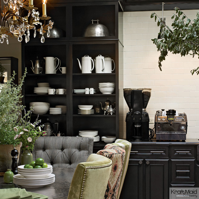 Kraftmaid kitchen cabinetry in onyx contemporary for Black onyx kitchen cabinets