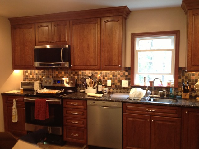 KraftMaid Kitchen in Cherry, Montclair with Sunset Glaze traditional-kitchen