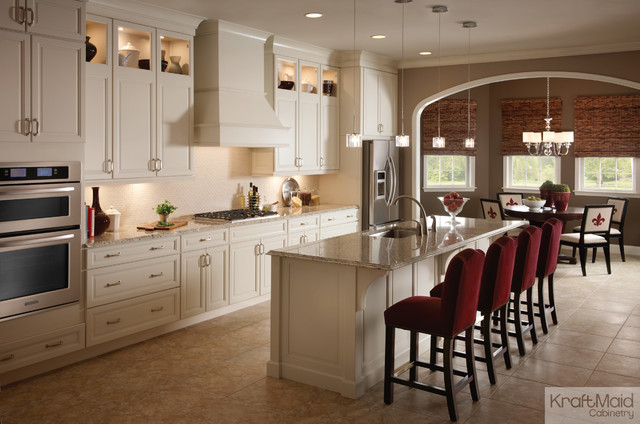 maple cabinetry in canvas traditional kitchen by kraftmaid