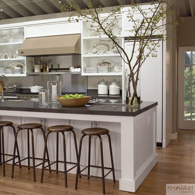 KraftMaid Cabinetry: Maple Square Beaded Door In Dove