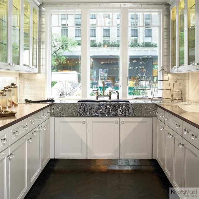 White Kitchen Cabinets Maintenance: KraftMaid: Maple Cabinetry In Dove White