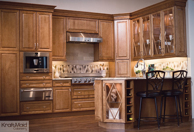 KraftMaid: Maple Cabinetry in Praline - Traditional - Kitchen - by KraftMaid