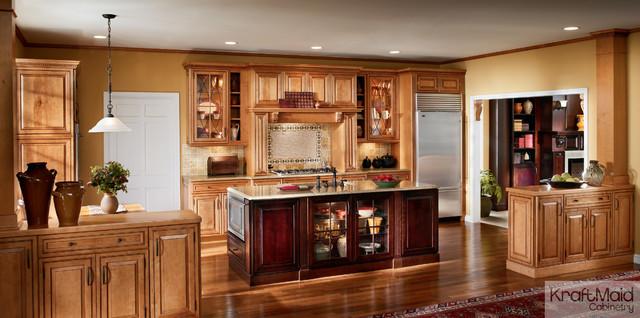 KraftMaid: Maple Raised Door In Praline With Mocha Highlight - Transitional - Kitchen - by KraftMaid
