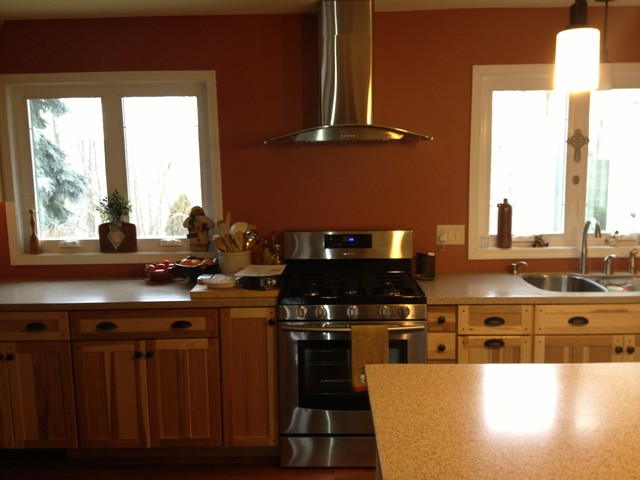 Kraftmaid mission hickory natural kitchen traditional kitchen