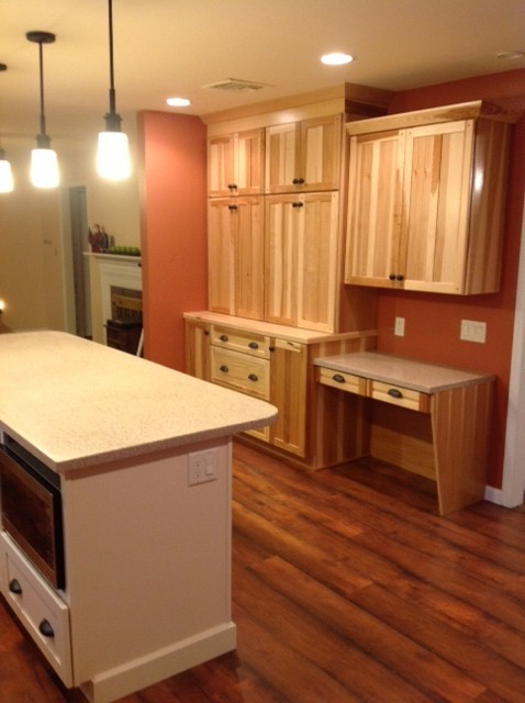 Kraftmaid Mission Hickory Natural Kitchen Traditional