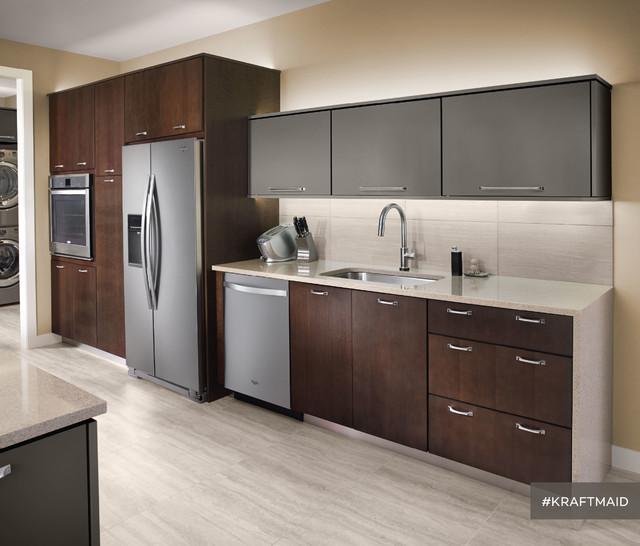... : Modern Kitchen with Dark Kitchen Cabinets contemporary-kitchen