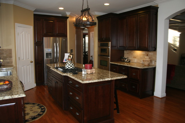 Kraftmaid Montclair Cherry - Deason - traditional - kitchen